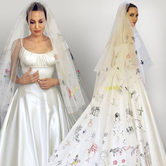 Angelina Jolie- Atelier Versace wedding dress