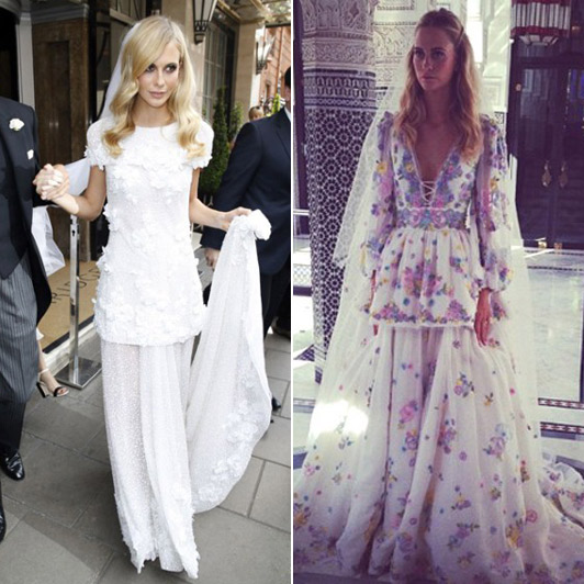 Poppy Delevigne- Chanel & Pucci wedding dresses