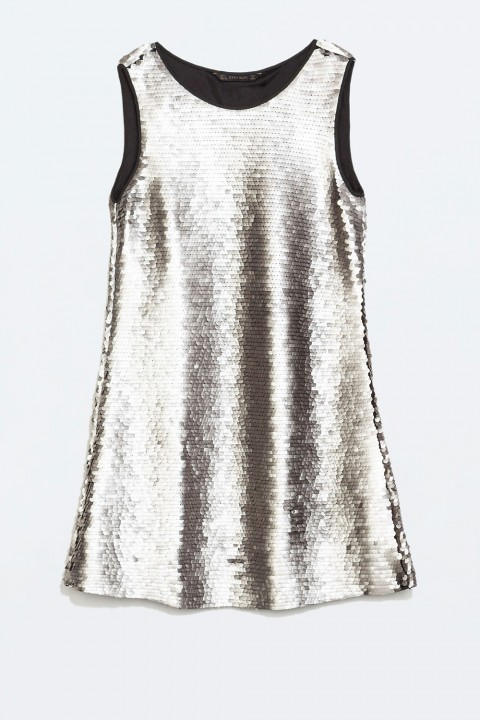 2015 New Year's Eve Zara Metallic Dress