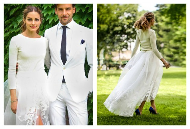 olivia-palermo Carolina Herrera  wedding-dress