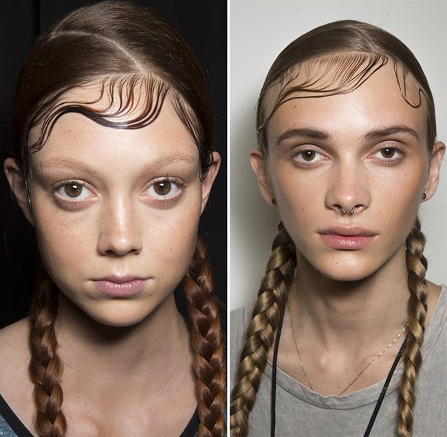 spring_2015_braided_hairstyles_from_runway_DKNY_braids