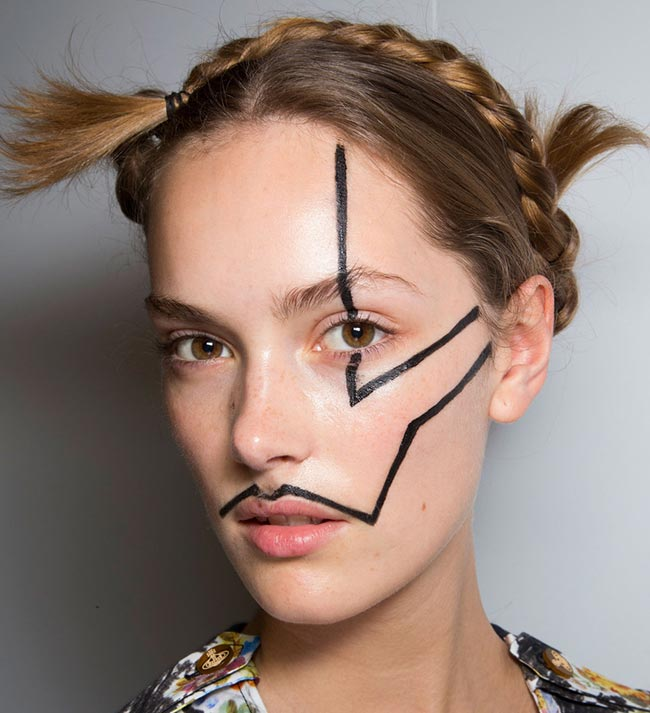 spring_2015_braided_hairstyles_from_runway_Vivienne_Westwood_braids