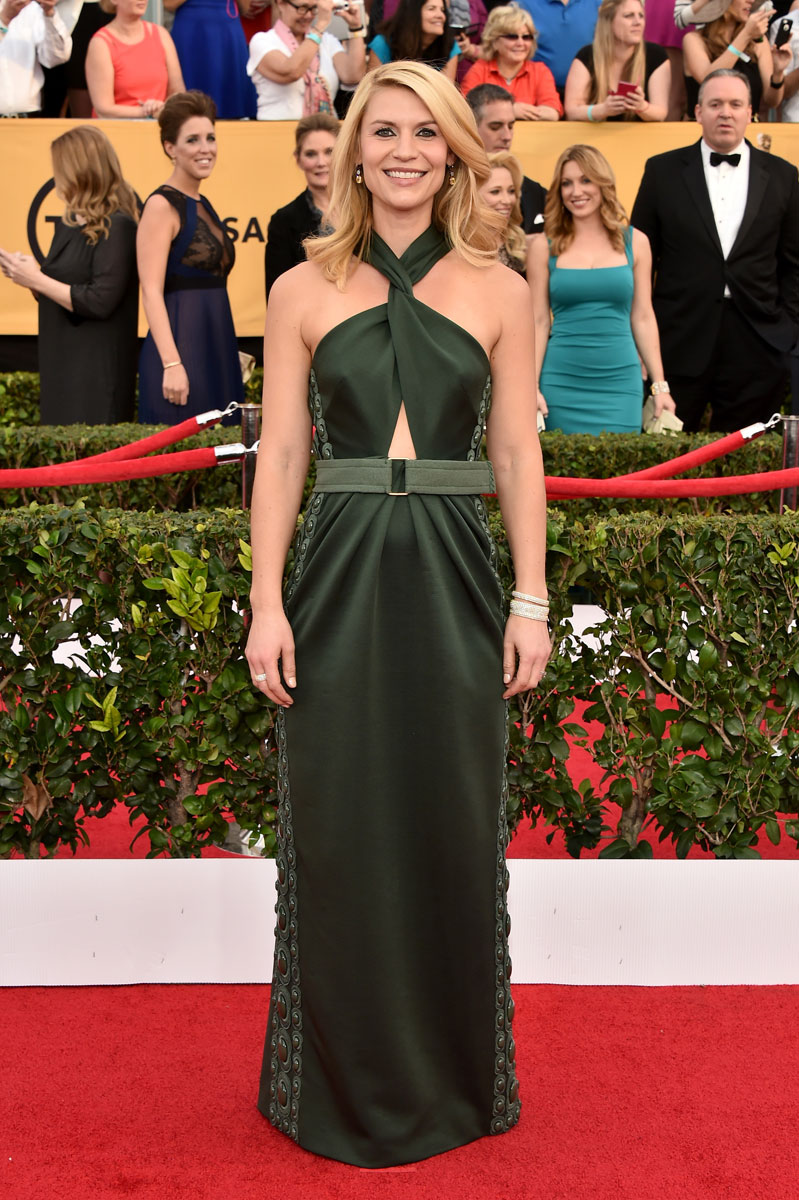 Claire Danes in Marc Jacobs at the SAG Awards 2015
