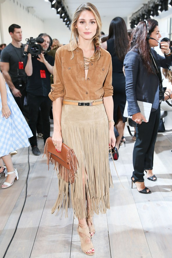 Olivia-Palermo-11Sept14 Micheal Kors show in New York