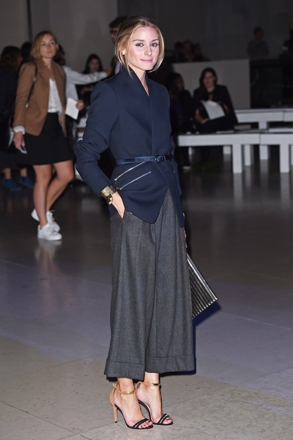 Olivia-Palermo-15Sept14 Spring/summer 2015 Jonathan Saunders show in London.