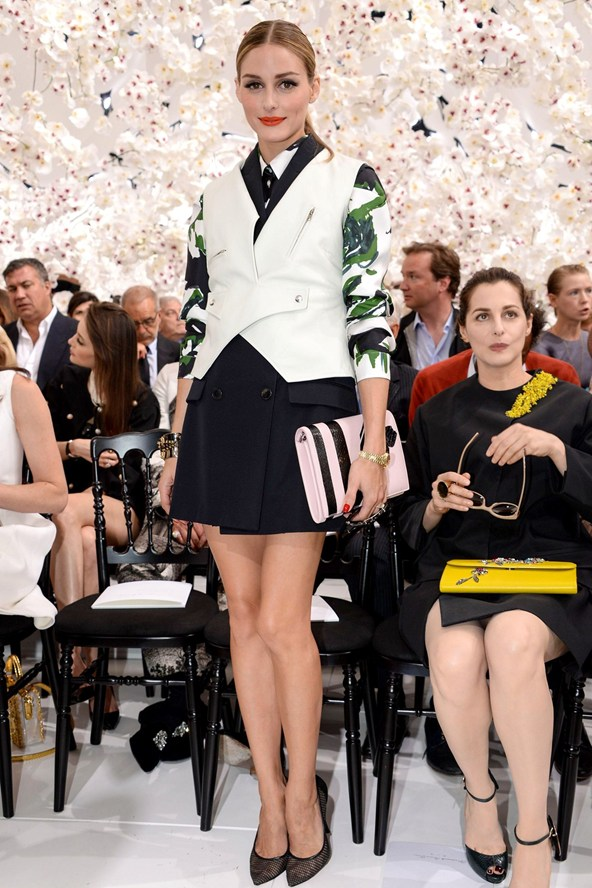 Olivia-Palermo 7July14 Dior Couture Show
