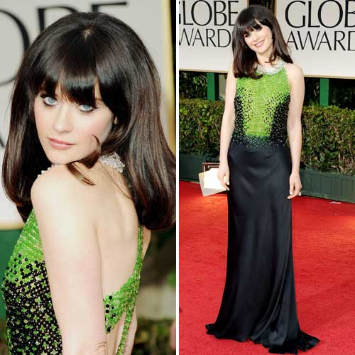 Zooey Deschanel Golden Globes 2012