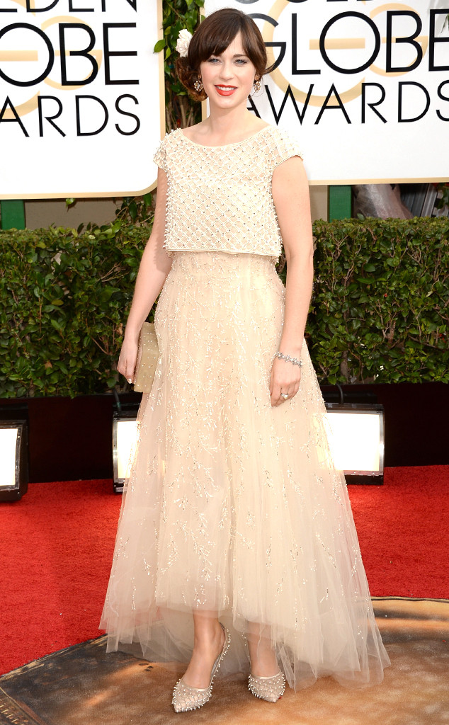 Zooey Deschanel at the Golden Globes 2014