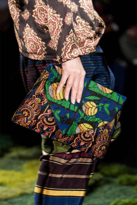 Van Noten florals bag Spring 2015