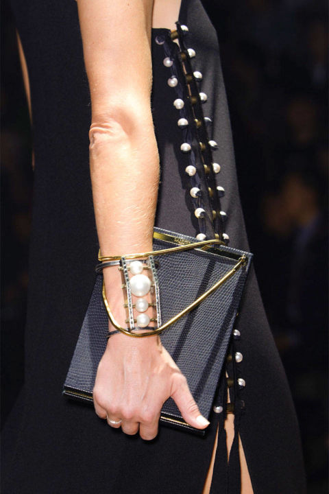 North South Lanvin  Black bag Spring 2015