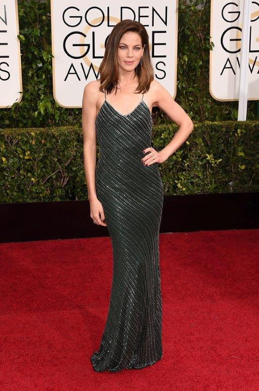 Michelle Monaghan Golden Globes 2015 in Jason Wu and Irene Neuwirth jewelry
