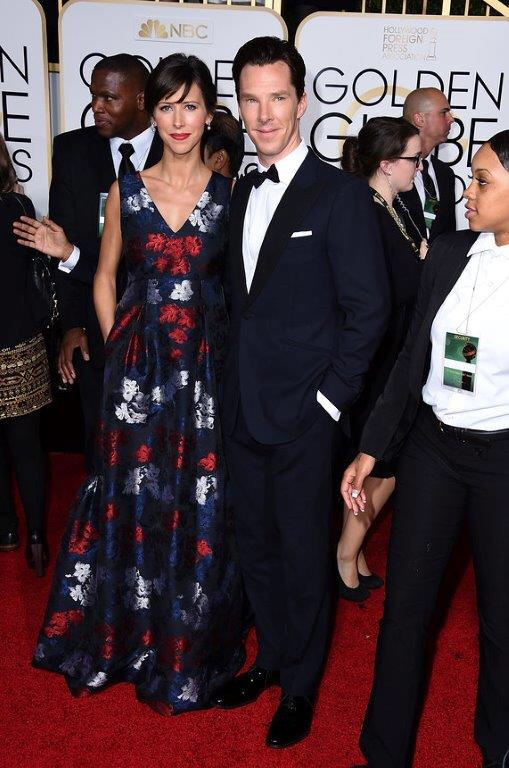 Sophie Hunter Golden Globes 2015 in Erdem and Neil Lane jewelry