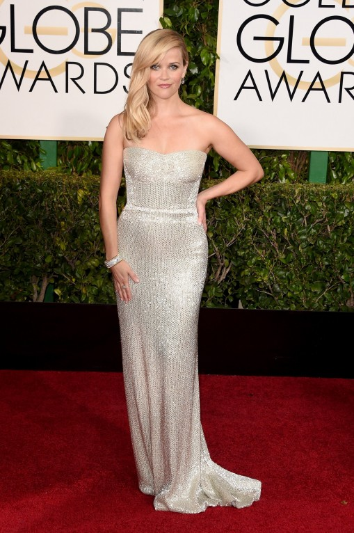 Reese Witherspoon Golden Globes 2015 in Calvin Klein Collection
