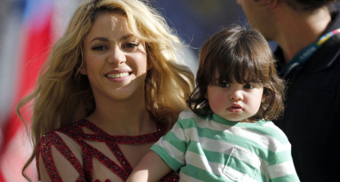 Shakira and her son, Milan