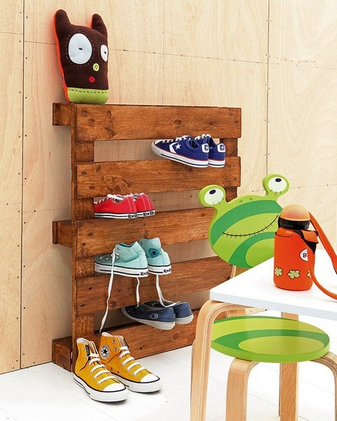 wooden pallet shoe box