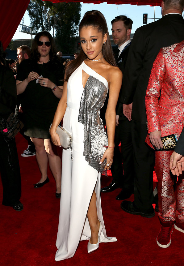 Ariana Grande in Atelier Versace at the Grammy Awards 2015