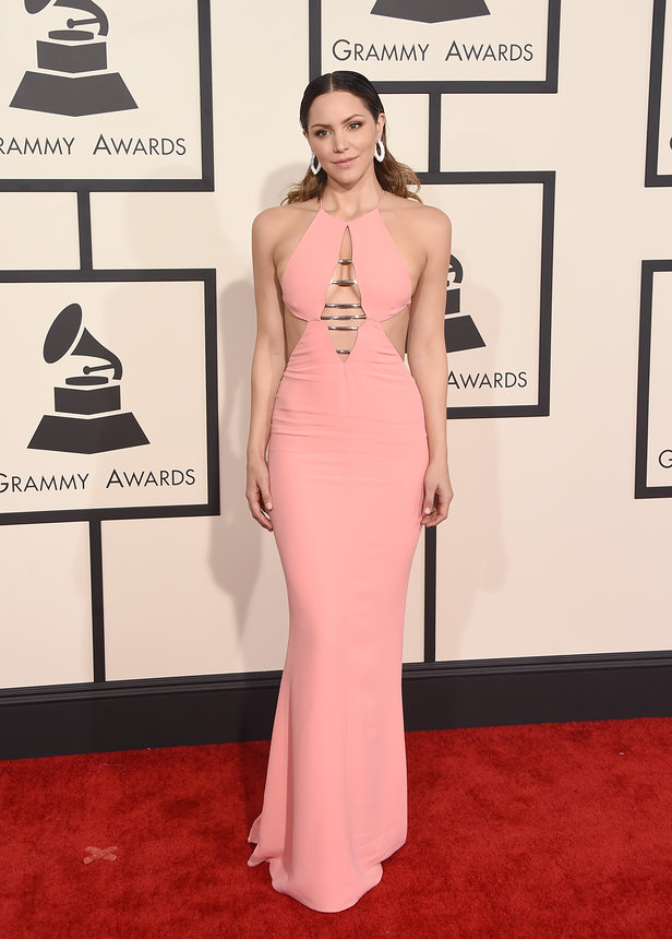 Katharine McPhee in Emilio Pucci at the Grammys 2015