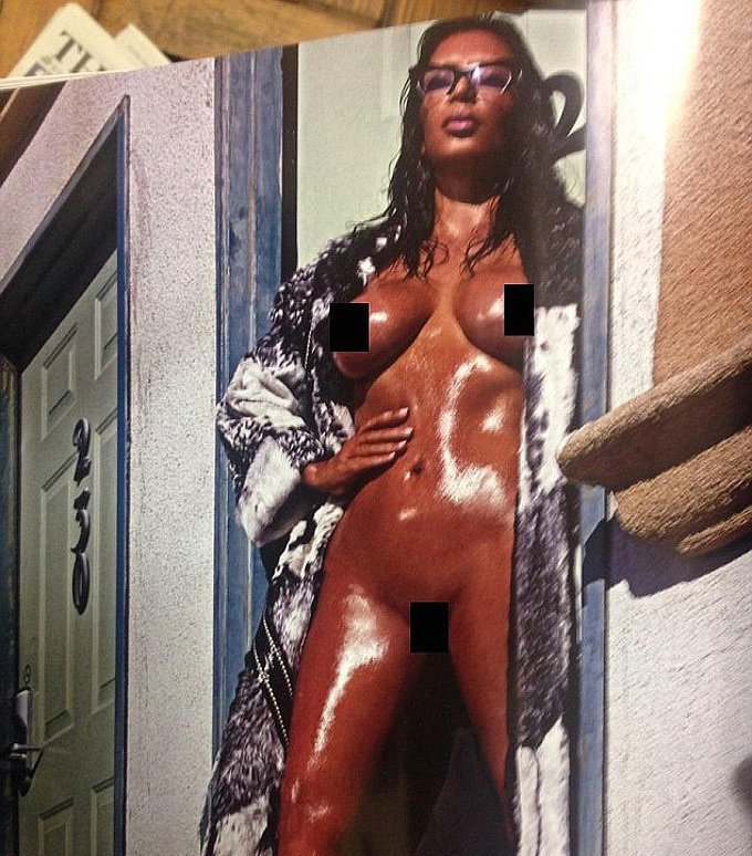 Kim Kardashian's Leaked nude Photo from Love Magazine