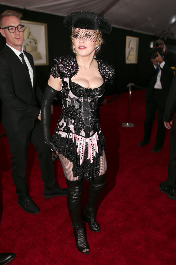 Madonna in Givenchy Haute Couture Grammy Awards 2015 red carpet