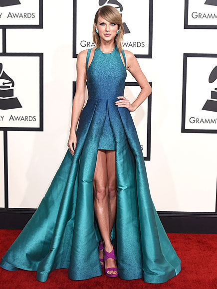 Taylor Swift in Elie Saab at The 2015 Grammys