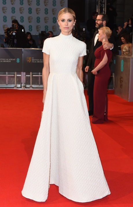 Laura Bailey in Emilia Wickstead at the 2015 BAFTA Awards