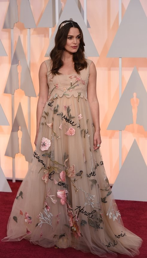 Keira Knightley in Valentino on the Oscars red carpet 2015