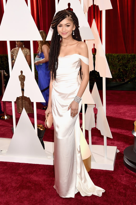 Zendaya in Vivienne Westwood on the Oscars red carpet 2015