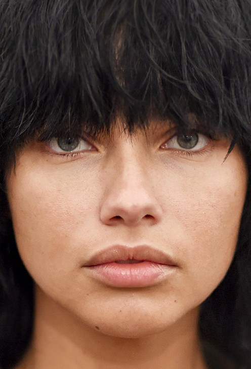Adriana Lima no make up close up photo