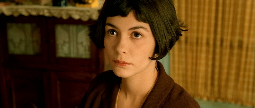 Audrey Tatou as Amelie Poulain- bob with very short bangs