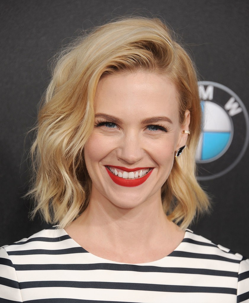 January Jones -wavy bob hairstyle