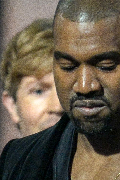 Kanye West close up photo