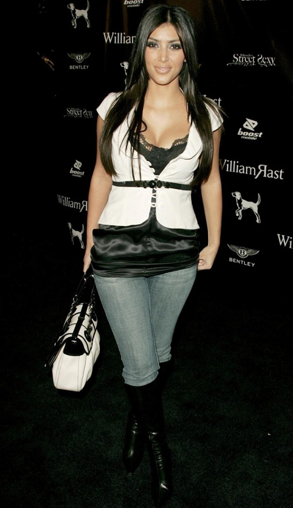 Kim Kardashian looking not so perfect in October 2006 at the William Rast Presents Street Sexy Spring-Summer in Hollywood