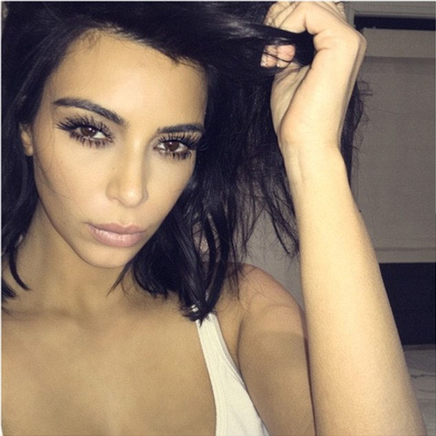Kim Kardashian' selfie posted in February shows her clear face