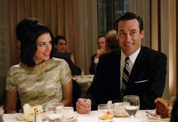 Megan Draper and Don in Mad Men