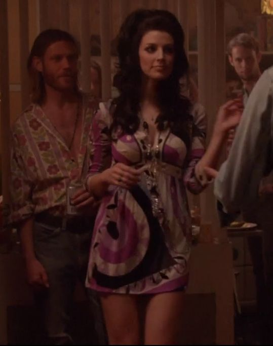 Megan Draper in a Pucci minidress in Mad Men
