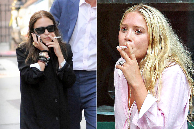 celebrity women smoking