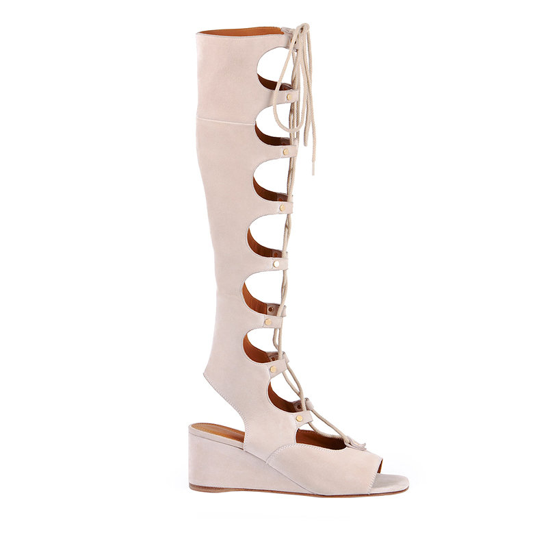 Chloé suede gladiator tall wedge sandal, $1,450