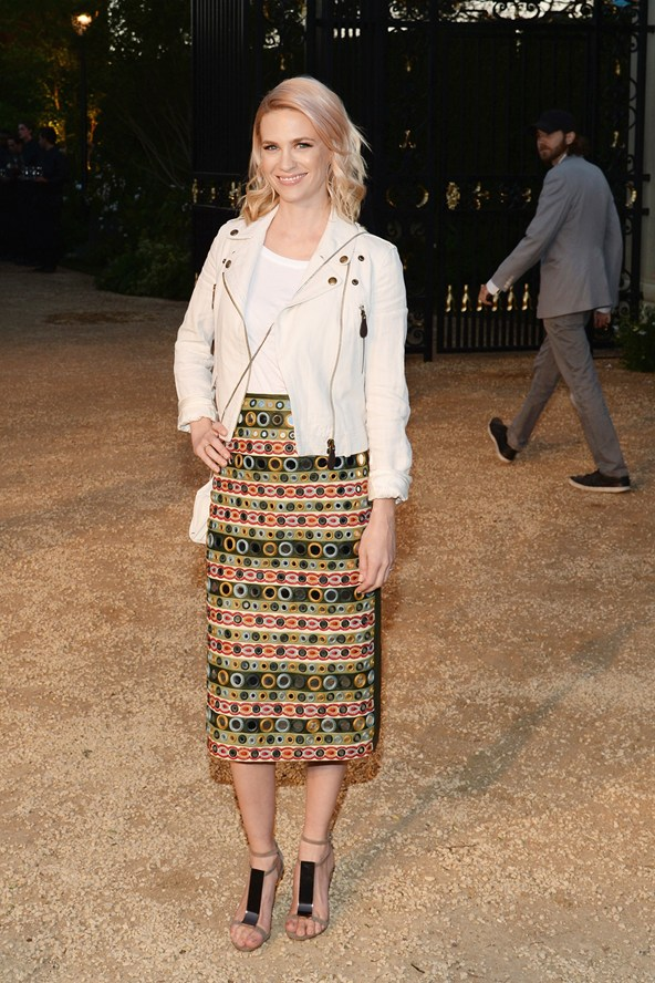 January Jones at the Burberry event 16Apr15