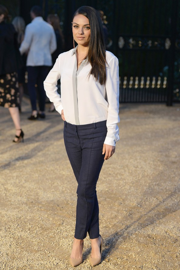 Mila Kunis at the Burberry event in LA 16Apr15