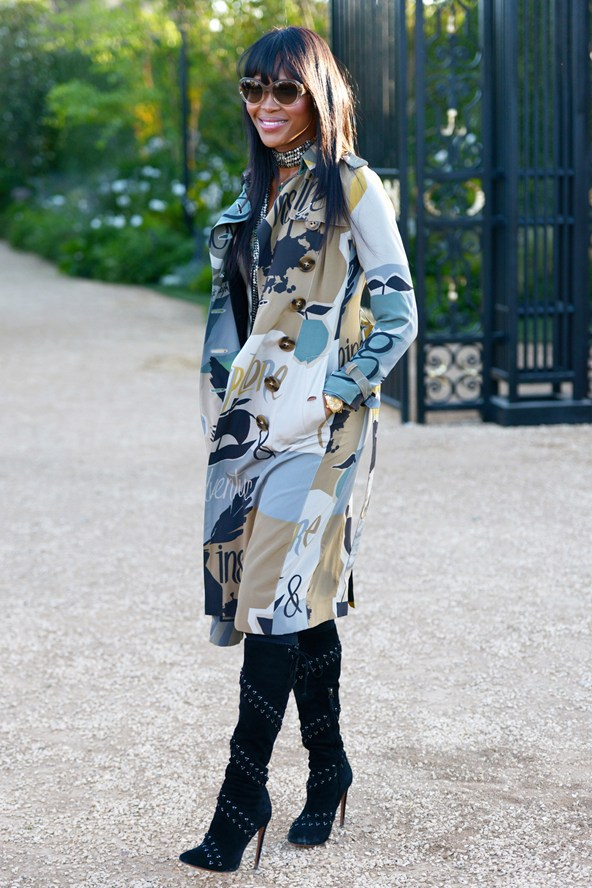 Naomi Campbell at theBurberry event 16Apr15