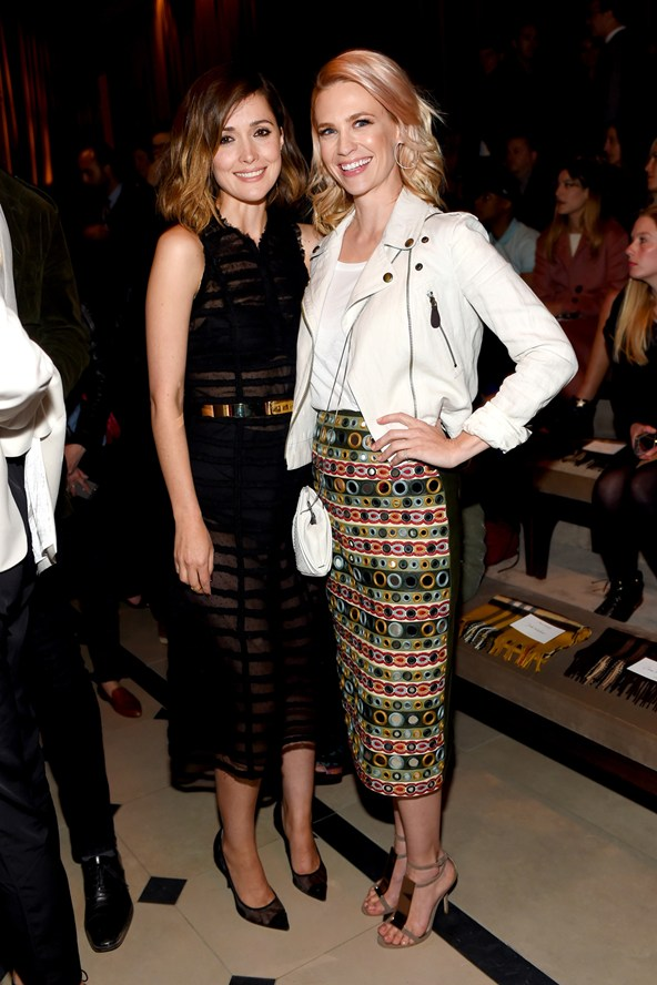 Rose Byrne January Jones at the Burberry event 17Apr15