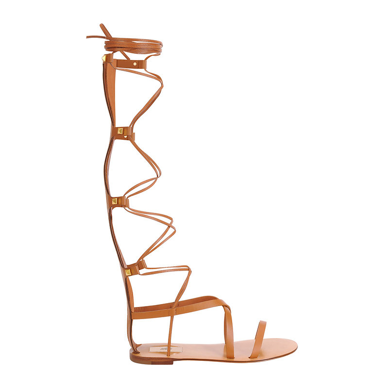 Valentino knee-high flat gladiator sandal, $1,495