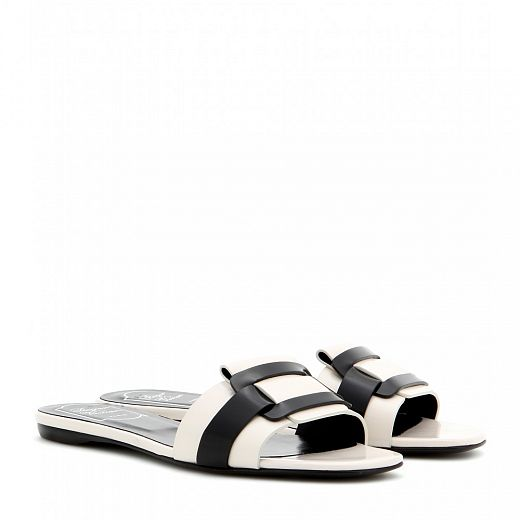 ROGER VIVIER Pilgrim Jour leather sandals