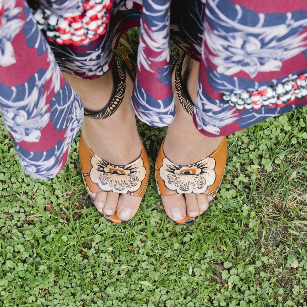 Valentino printed leather sandals Spring 2015, $1,345