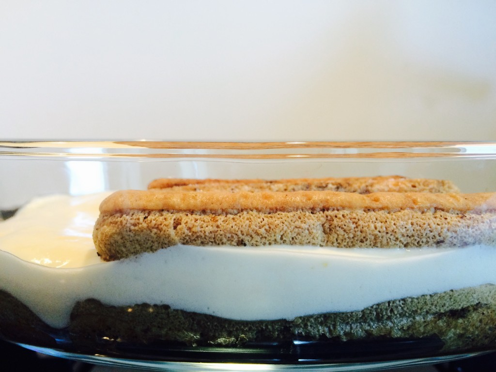 Tiramisu- ladyfingers and mascarpone layering
