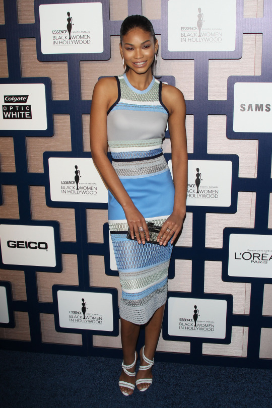 Chanel Iman at the 2015 Essence Black Women in Hollywood Luncheon in Beverly-Hills
