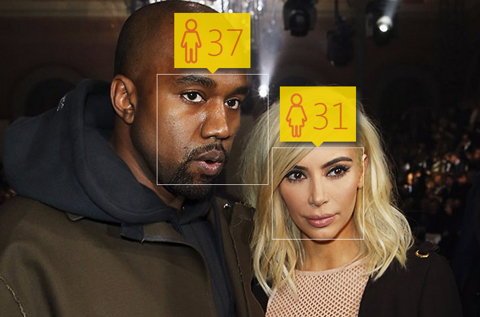 Kim Kardashian is 31 and Kanye West is 37 on HOW OLD DO I LOOK? #HowOldRobot
