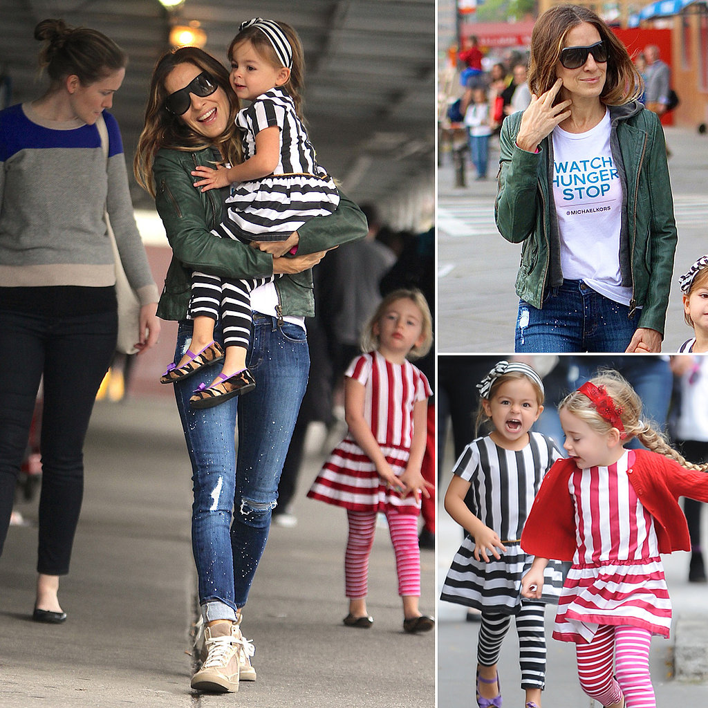 Sarah Jessica Parker Twin Daughters Stripes