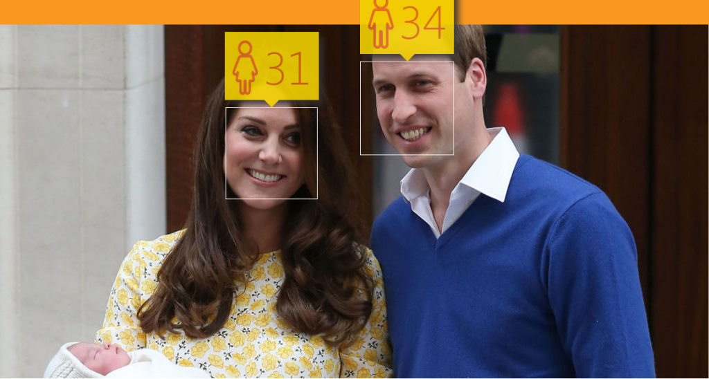 The Duke is 34 and Duchess of Cambridge is 31 on HOW OLD DO I LOOK? #HowOldRobot