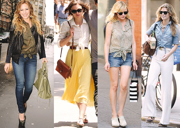 hollywood celebrities sporting the knotted trend